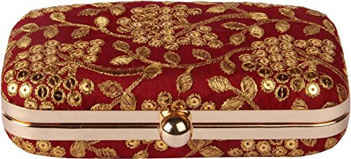 Tooba Women's Clutch (Red)