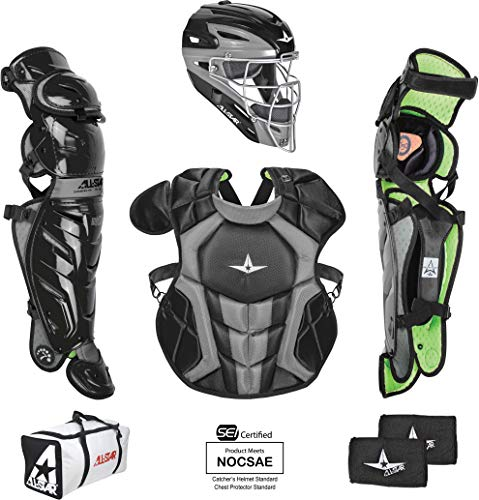 All-Star Youth System7 Axis Catchers Set Black/Grey
