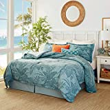 Tommy Bahama   Abalone Collection   100% Cotton Soft and Breathable Comforter, All Season Bedding Set, Pre-Washed for Added Softness, King, Blue