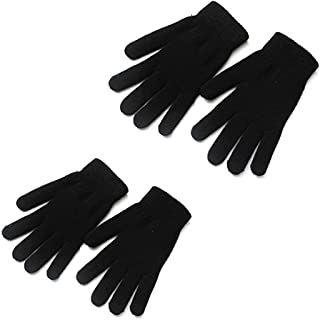 Mellons Unisex Winter Knit Classic Solid Color Gloves