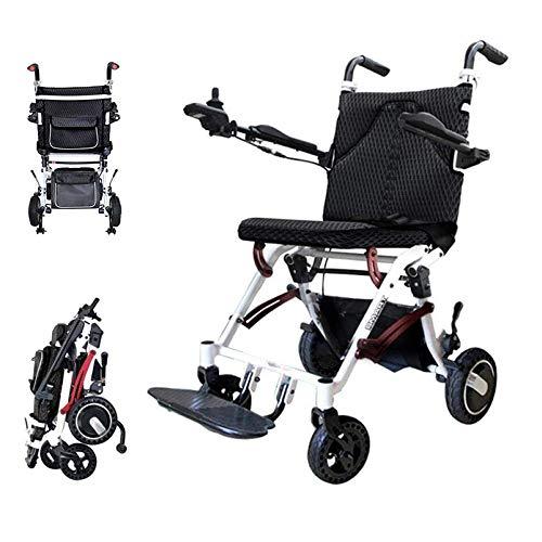 Sillas de ruedas ligeras silla de ruedas plegable portátil de alimentación de aleación de aluminio, portátil Silla de ruedas eléctrica plegable sillas de ruedas ligeras para los inválidos de edad