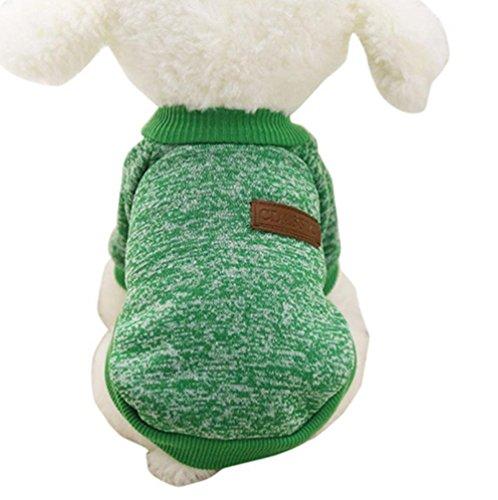 Hemore Mascotas Perro Ropa Abrigo Sudadera Invierno Mascota Perro Ropa Tejer Animales requisitos de Dog Pet Clothes