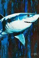 スティーブンフィッシュウィックアートによるサイレントキラーサメの絵 ポスター、ヨーロッパとアメリカのスタイルのポスター、大きさ:30x42cm
