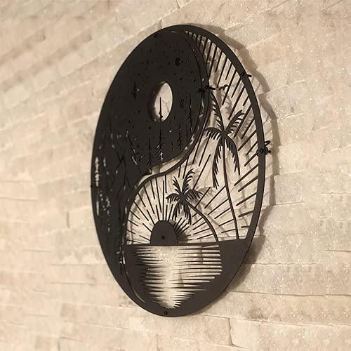 Decoración de Pared de Metal Sun & Moon, Hecha a Mano, decoración de Pared en...