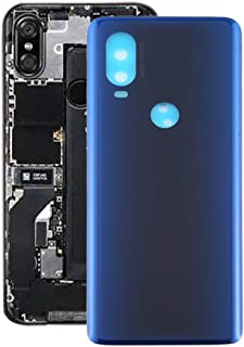 Mobile Phones Communication Accessories Battery Back Cover for Motorola Moto One Vision (Color : Blue)