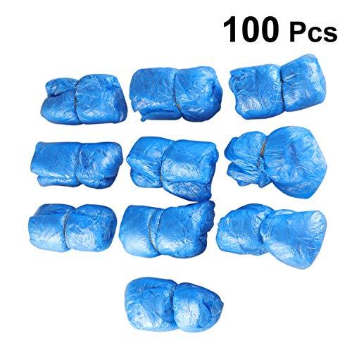 PRETYZOOM 100 Stuks Wegwerp Overschoen Waterdicht Wegwerp Plastic Overschoenen Tapijt Schoonmaak Overschoenen Wegwerp Overschoenen Laarzen Hoes Voor Regenachtige Dagen Buiten