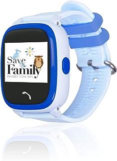 Reloj con GPS para niños SaveFamily Modelo Completo, smartwatch con Boton SOS, Permite Llamadas y Mensajes. Resistente al ...