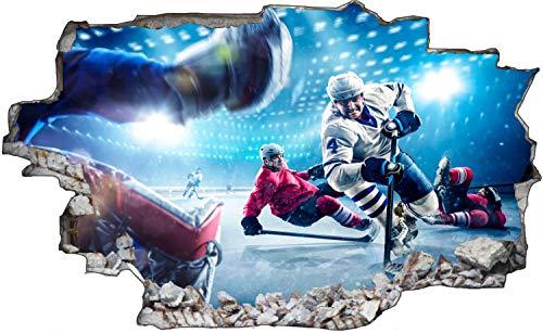 Eishockey Spieler Match Action Wandtattoo Wandsticker Wandaufkleber C1869 Größe 70 cm x 110 cm