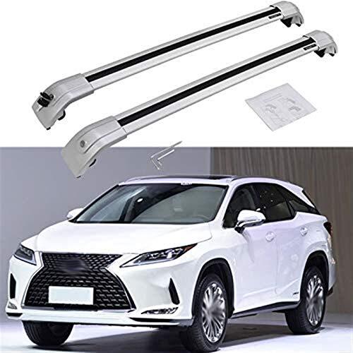 Portaequipajes para coches For adaptarse a Lexus- RX RX350 RX270 RX300 RX450 RX450h 2016-2020 barra transversal de la barra cruzada con cierre del techo del carril de equipaje transporte de carga - Pl