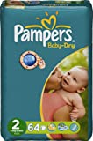 Pampers 81333923 Baby Dry - Pañales (tamaño 2, 3 a 6 kg)
