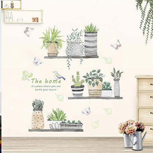 Adesivi Murali Topgrowth DIY Cactus Removibile Sticker Adesivo da Parete Adesivo Casa Famiglia Arte Murale Home Decor