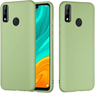 LENASH För Huawei Y8s ren färg flytande silikon stötsäker full täckningsskydd Fallskydd (Color : Green)