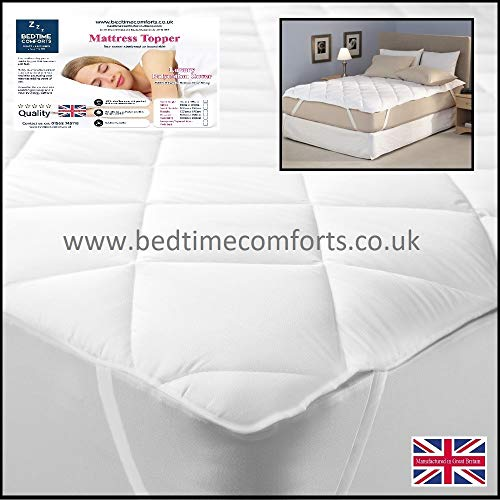 Bedtime Comforts Ltd EMPEROR SIZE BED 7' X 7' QUILTED MATTRESS TOPPER/PROTECTOR (Elasticated) 84' X 84' (7' x 7')