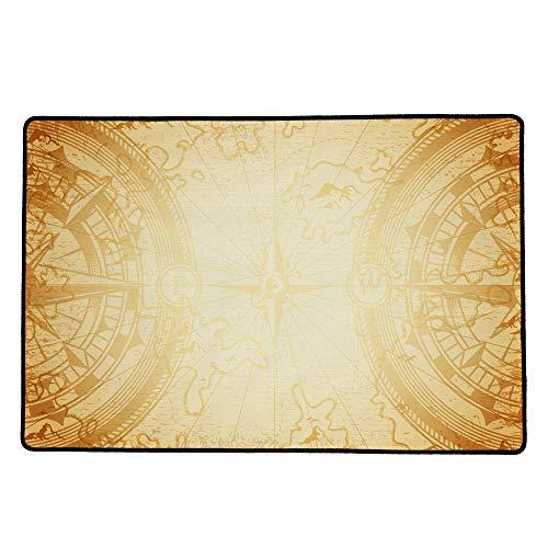 IMMERSION Tapis de Jeux Compass Sepia Playmat 60 x 40 cm - Haute Qualité de Glisse - Antidérapant