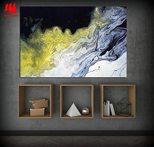 SDFSD Leinwanddrucke dekorativ gelb schwarz abstrakt Ölgemälde Wandbilder für Wohnzimmer Wandkunst Wohnkultur 40 * 60cm