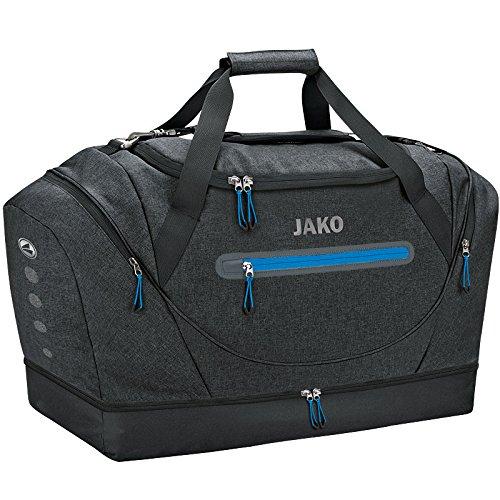 JAKO Sporttasche Champ mit Bodenfach, 60 cm, 68 L, Schwarz Meliert