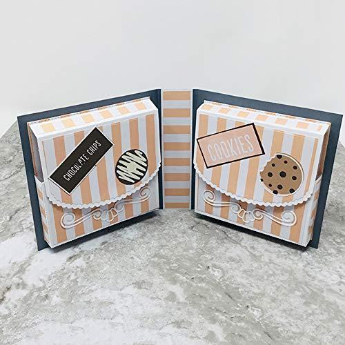 Lai-LYQ Stanzbögen Scrapbooking Karton Box, Prägeschablonen Papier Handwerk Weihnachtsdekoration Festival Karten Geschenk Silver