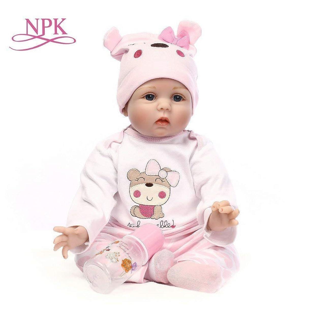 目の前の養うトースト55センチシリコンリボーンベビードールおもちゃリアルなソフト布ボディ新生児 bebes 赤ちゃん人形 誕生日プレゼント