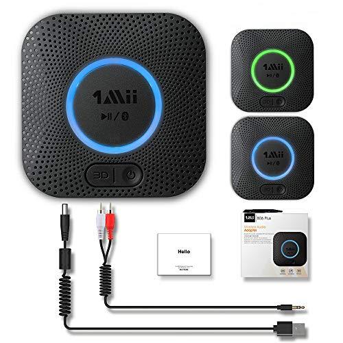 1mii Bluetooth 5.0 Receiver, Bluetooth Audio Adapter with 3D Surround aptX...