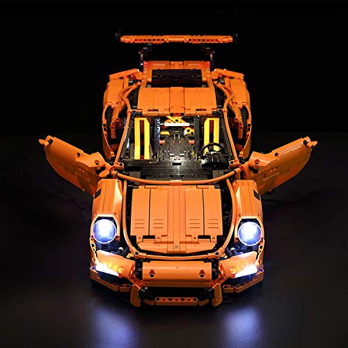 JIALI Kit de luces LED para Lego 42056 Technic Porsche 911 GT3 RS Super Sports Car Building Block (modelo Lego)
