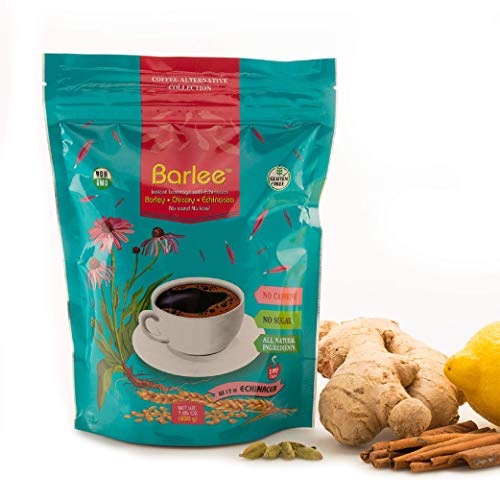 Barlee With Echinacea - Coffee Alternative Beverage Blend - Chicory Root Powder With Barley - Instant Chicory Coffee Substitute - No Sugar Caffeine Free (7.05 oz)