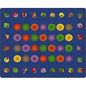 Flagship Carpets FE129-58A Circletime Learning, Children's Classroom Educational Rug, 10'6″x13'2″, Rectangle