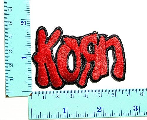 Korn rojo Punk Rock Heavy Metal Rock Music Band parche Logo coser...