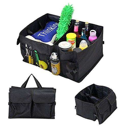 Uchic 1 pcs Auto Supplies Voiture Dos Oxford Chiffon Boîte de rangement pliable multi-usage outils organiseur de voiture Sacs de stockage Portable Noir