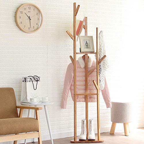 ZXL Möbel kledingrek, garderobe - vloer eenvoudig slaapkamer kledingrek - eenvoudige moderne huis verticale kledinghanger - kledingstandaard met 9 haken voor sjaals en hoeden 170 cm (H)