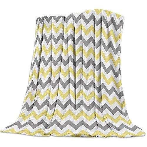 Blanket Ocean Chevron Blankets, Zig Zag Pattern Warm Flannel Throw Blanket For Baby Girls Boys Adult Home Office Sofa Chair Cars, 50 x 40