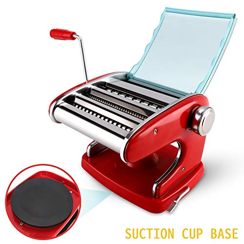 VOLIGO Pasta Maker Machine Pasta Roller Manual Noodle Maker Pasta Cutters Stainless Steel