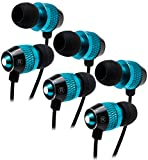 Bastex Premium Quality Universal Earbuds Compatible with all 3.5 mm audio jack smartphones and devices, including full range of Samsung Galaxy S7 S7 Edge S5 S6 Alpha Core Prime iPhone 5 5c 5s 6 6+ iPod 5 6 BLU Advance BLU Studio LG G3 LG G5 LG V10 LG...