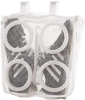 شنطة غسيل الأحذية، شنطة شبكية لغسيل وتجفيف الأحذية الرياضية، مثالية للغسالة، منظم تخزين (أبيض)