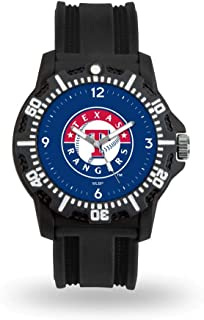 Rico Industries MLB Texas Rangers Model 3Men`s Watch, Black, One Size