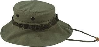 Olive Drab Vintage Vietnam Military Rip-Stop Boonie Hat