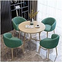 農家風ダイニングテーブルセット、食卓セット Dining Table 高級家具 家の装饰 現代のダイニングテーブルと椅子セット4カフェカジュアルレセプション80センチメートルラウンドテーブルシンプルなホームリビングルームスタディクリエイティブの表示 、ダイニングルーム、アパート、パブ、家具 (Color : Green)