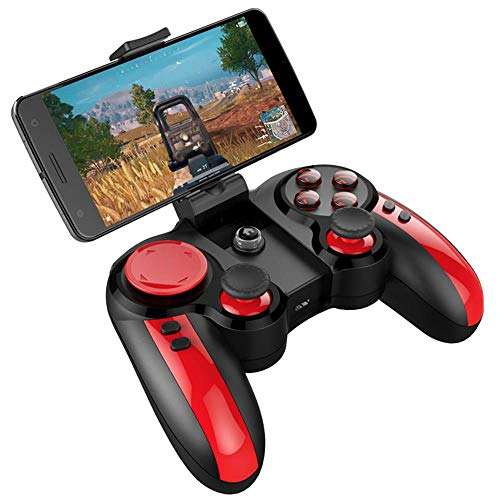 AFF Mobiler Gamecontroller, drahtloses Bluetooth-Gamepad Wireless Key Mapping Shooting Fighting Racing Gamepad Joystick für iOS Android iPad Samsung
