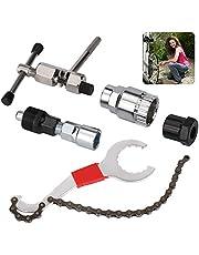 ZoneYan Fiets Cassette Removal Tool, 5 stks Fiets Reparatie Tool Kits, Onderbeugel Verwijdering Tool Kit, Fiets Ketting Cutter/Beugel Freewheel Chain Remover/Crank Trekker Remover Tool