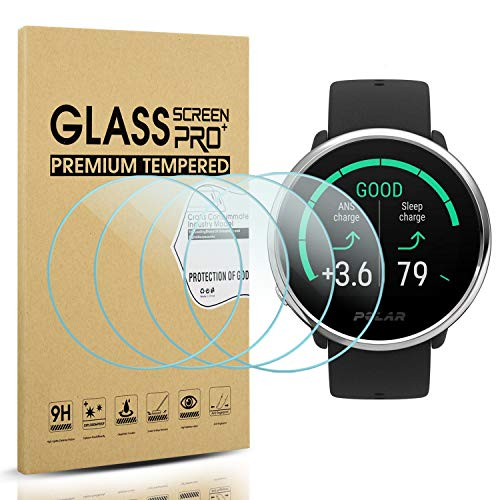 Suoman 4-Pack for Polar Ignite Screen Protector Tempered Glass, 2.5D 9H Hardness Screen Protector for Polar Ignite Smartwatch
