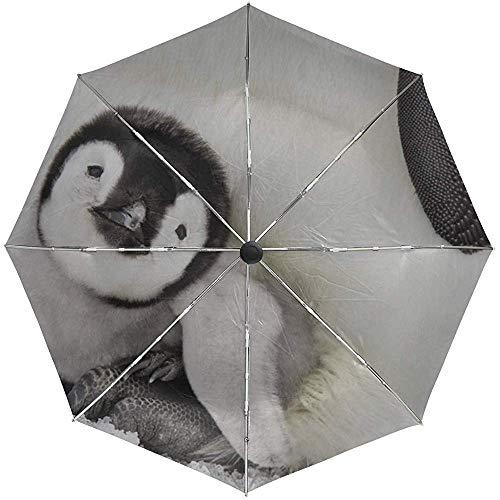 Automatisches Regenschirm-Pinguin-Baby Legen Sich hin und kümmert Sich Reise-Reise-bequemer winddichter wasserdichter faltender offener Selbstschluss