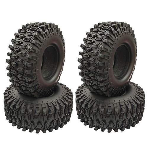 Aufghk 4PCS 1,9 Pulgadas de neumáticos de Caucho de 1,9 neumáticos de Las Ruedas 108X40MM for 1/10 RC orugas Traxxas TRX4 Axial SCX10 90046 AXI03007 ( Color : Black )