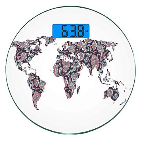 Escala digital peso corporal precisión Ronda Mapa