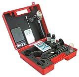 Maletín de medición de café, báscula digital, termómetro, prensador de café en polvo, manómetro con soporte de filtro, cepillo de limpieza, prueba de agua