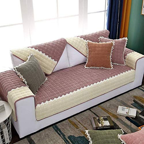 HOCOL korte pluche bankovertrek, anti-slip mode simpel modern meerkleurig optionele bankovertrek, voor woonkamer meubelbescherming