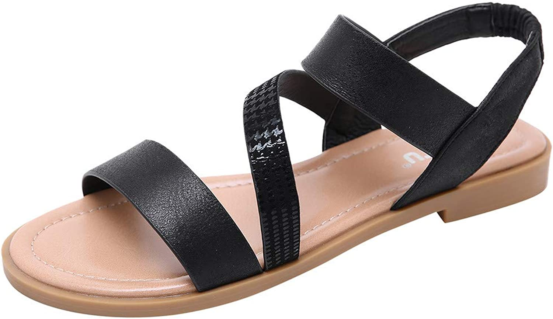 Xinantime Summer Flat Sandals for Women Comfortable Casual Beach shoes Platform Bohemian Sandals