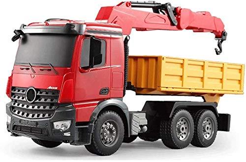 Bck Juguetes for niños RC Camiones 360 ° Giros de volcado de camiones de control remoto con LED de luz de marcha Técnica Auto, hecho de materiales de avanzada, seguro y duradero de salida, potente y e
