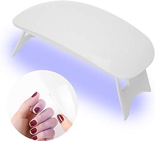 Mini lámpara de uñas LED de 6W Secador de uñas USB Portátil Luz de curado de gel UV Mini herramienta de manicura de secado rápido para esmaltes a base de uñas de gel Forma de ratón Tamaño de bolsillo