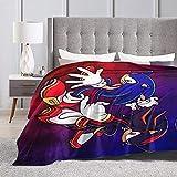Shadow The Hedgehog Blanket Classic Fashion Coral Fleece Blanket Micro Fleece Blanket 50'X40' in
