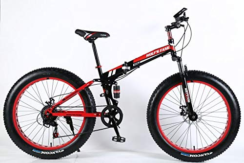 XNovem 21-Speed Fat Tire Mens Mountain Bike with All-Terrain Knobby Tires, 17-Inch High-Tensile Aluminum Frame, 26-inch Wheels
