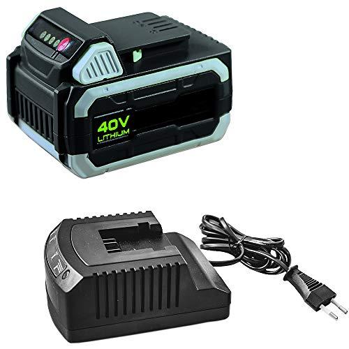 IKRA 17180929-AZ2 Kombipack Batterie & Ladestation 40 V 2,5Ah Li-Ion Akku Ersatzakku & Standard-Ladegerät ONE FOR ALL, schwarz